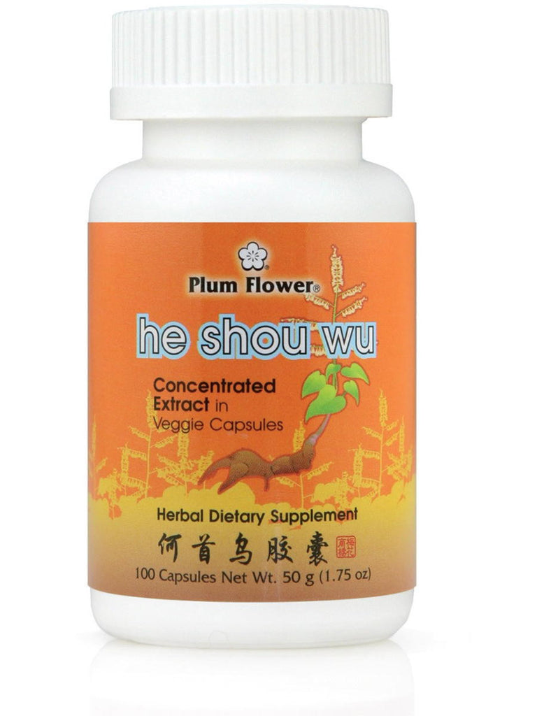 He Shou Wu, 100 ct, Plum Flower