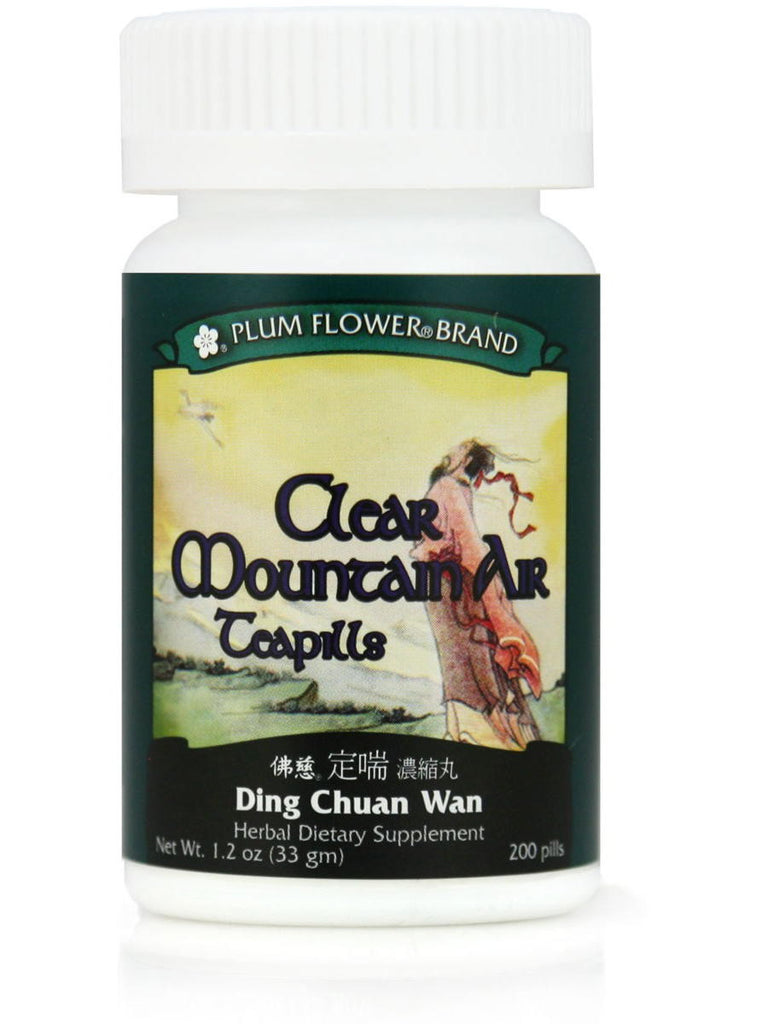 Clear Mountain Air Formula, Ding Chuan Wan, 200 ct, Plum Flower
