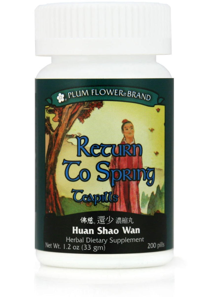Return To Spring Formula, Huan Shao Dan Wan, 200 ct, Plum Flower