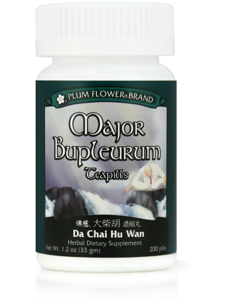 Major Bupleurum Formula, Da Chai Hu Wan, 200 ct, Plum Flower