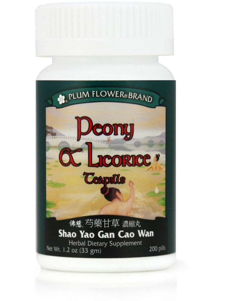 Peony & Licorice Formula, Shao Yao Gan Cao Wan, 200 ct, Plum Flower