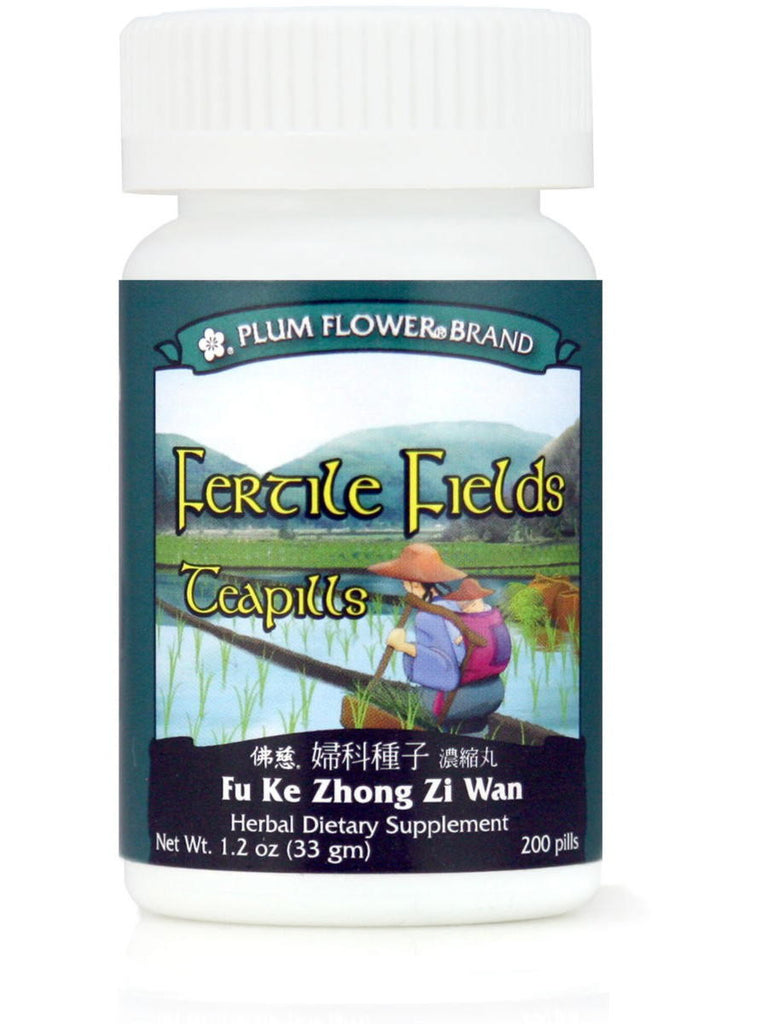 Fu Ke Zhong Zi Wan, Fertile Fields Formula, 200 ct, Plum Flower