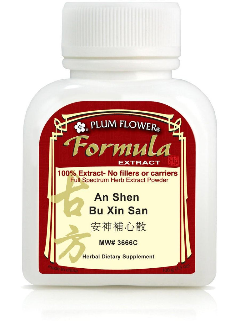 An Shen Bu Xin San, 100 grams extract powder, Plum Flower