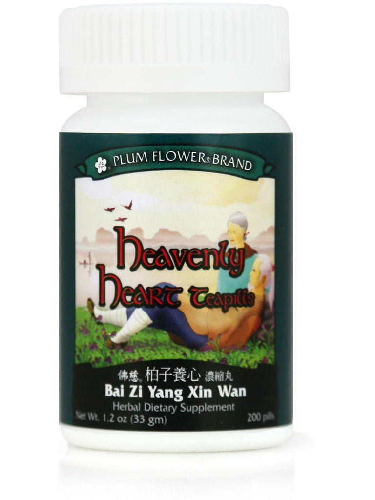 Bai Zi Yang Xin Wan, Heavenly Heart Formula, 200 ct, Plum Flower