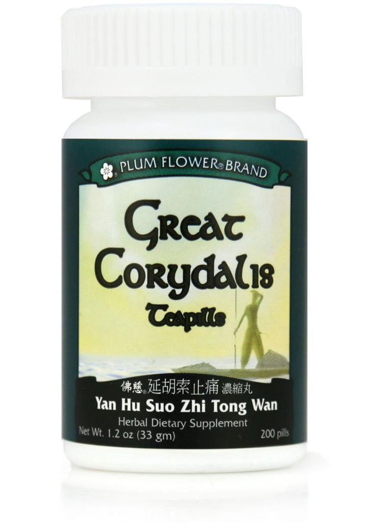Great Corydalis Formula, Yan Hu Suo Wan, 200 ct, Plum Flower
