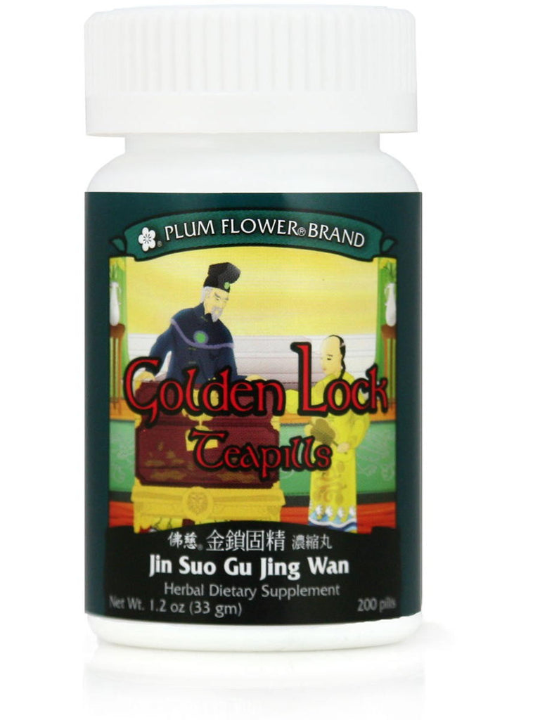 Jin Suo Gu Jing Wan, Golden Lock Formula, 200 ct, Plum Flower