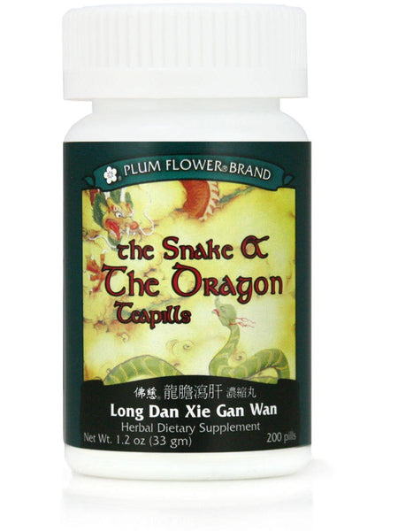 Snake & The Dragon, Long Dan Xie Gan Wan, 200 ct, Plum Flower