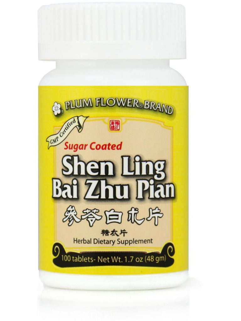 Shen Ling Bai Zhu Pian, Sugar Coated, 100 ct, Plum Flower