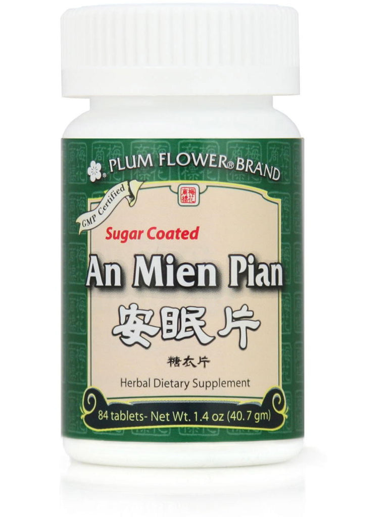 An Mien Pian, Peaceful Sleep, Sugar Coated, 84 ct, Plum Flower