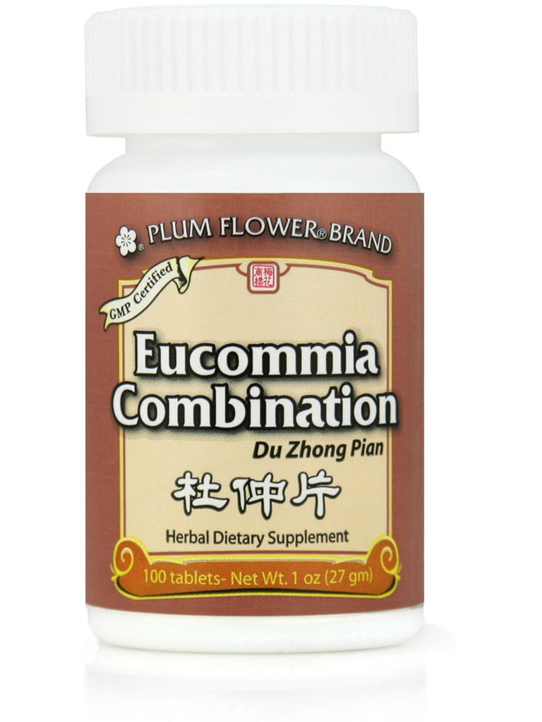 Eucommia Combination, Du Zhong Pian, 100 ct, Plum Flower