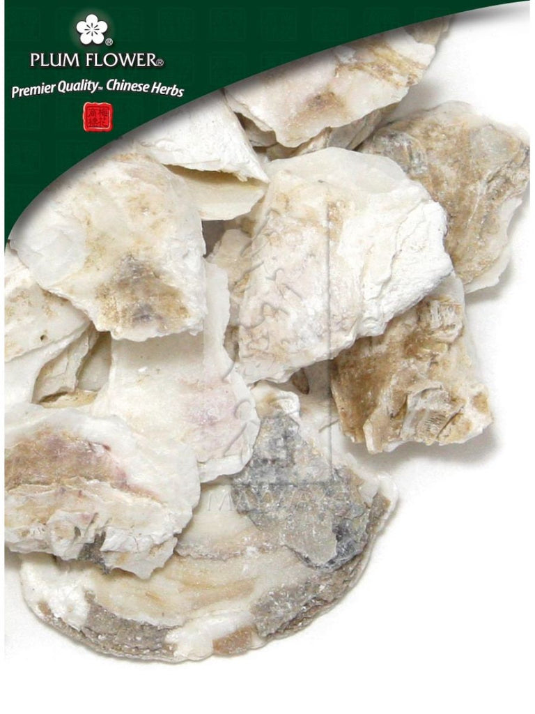 raw, Ostrea gigas shell, raw, Whole Herb, 500 grams, Mu Li