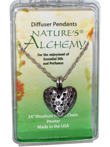 Nature's Alchemy, Heart Diffuser Necklace, 1 pc