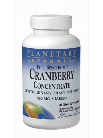 Planetary Herbals, Cranberry Concentrate 560mg Full Spectrum Std 90% solids, 90 ct