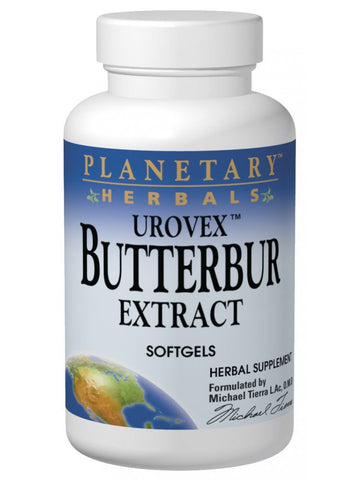Planetary Herbals, Butterbur Extract Urovex 50mg, 50 softgels