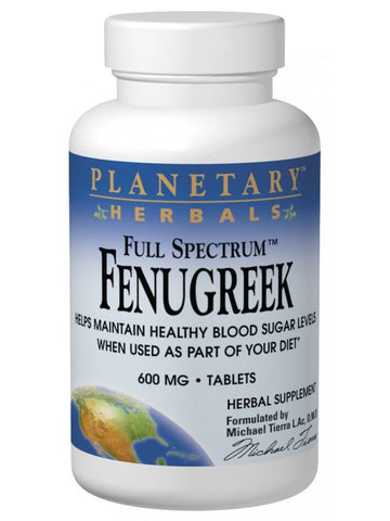 Planetary Herbals, Fenugreek 600mg Full Spectrum, 120 ct