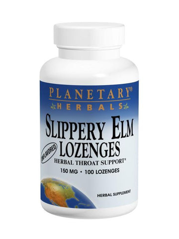 Planetary Herbals, Slippery Elm Lozenges Unflavored, 24 lozenges