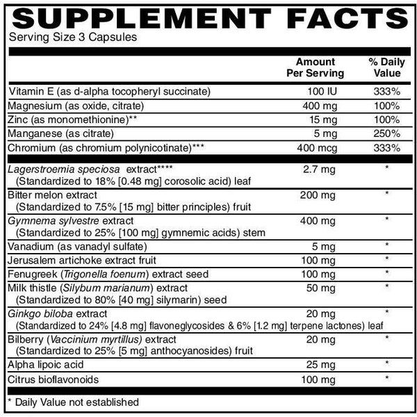 Smart Herbs, Glucose Support, 60 caps