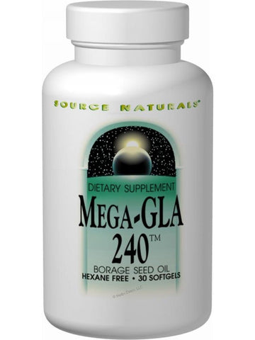 Source Naturals, Mega-GLA 300 Borage Seed Oil, 120 softgels