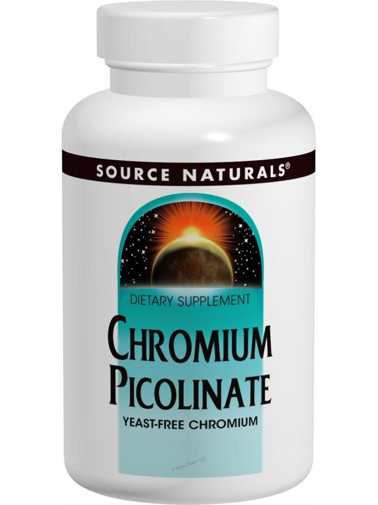 Source Naturals, Chromium Picolinate Yeast Free 200mcg, 240 ct