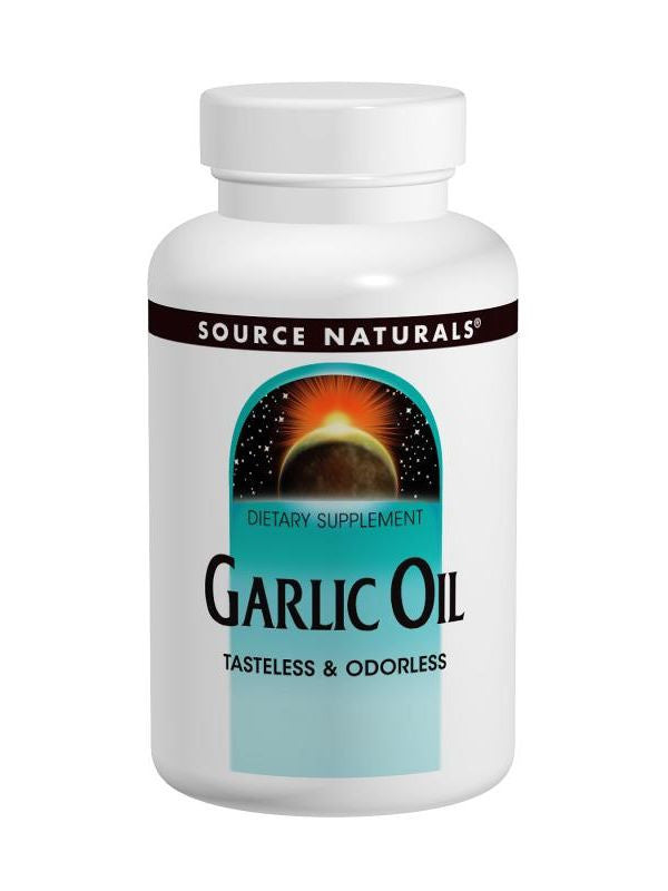 Source Naturals, Garlic Oil, 500mg Odorless, 100 softgels