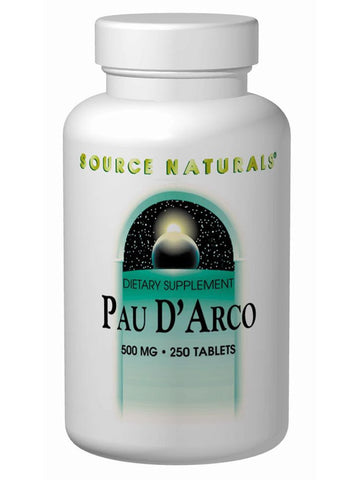 Pau D'Arco Whole Herb, 500mg, 250 ct, Source Naturals