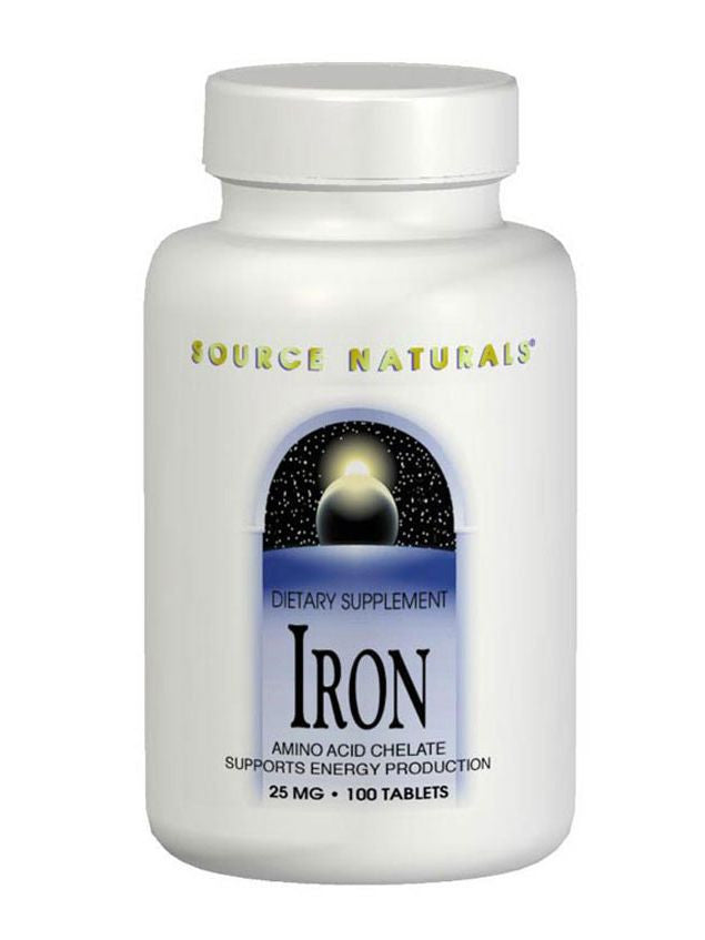 Source Naturals, Iron Chelate, 25mg, 100 ct