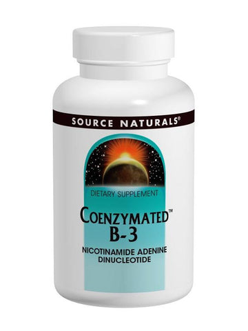Source Naturals, Coenzymated Vitamin B-3, 25mg, 60 Sublingual