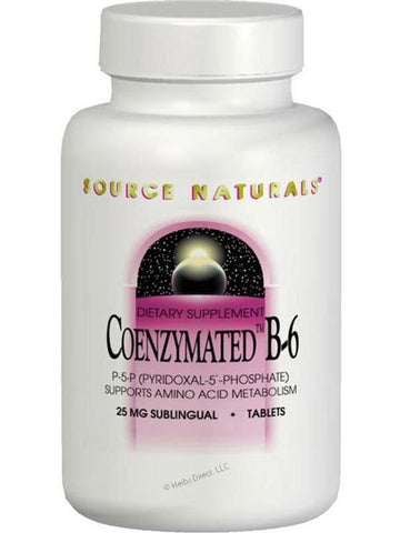 Source Naturals, Coenzymated Vitamin B-6, 25mg, 30 Sublingual