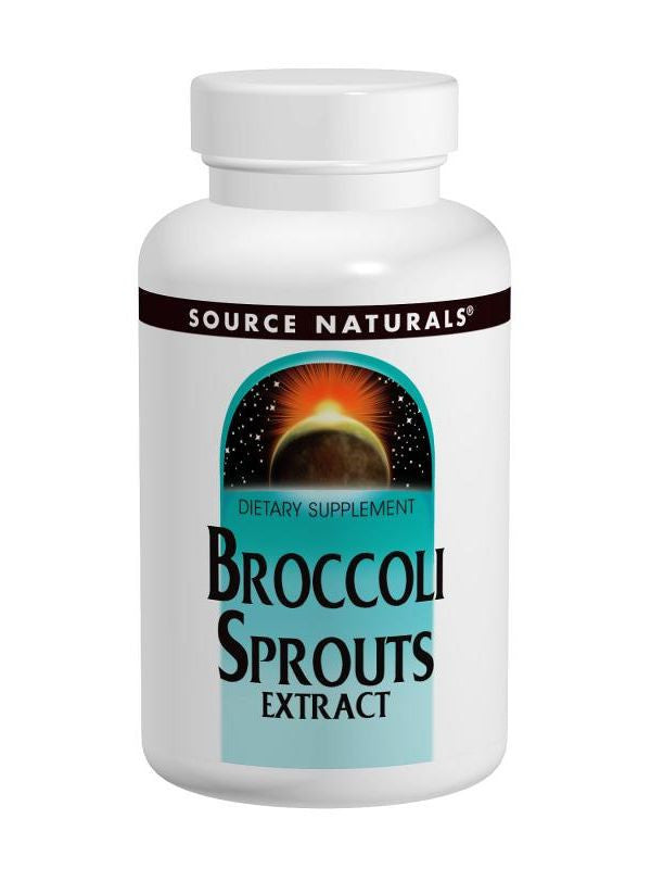 Source Naturals, Broccoli Sprouts Ext 0.4%, 250mg w/1000mcg Sulforaphane, 60 ct