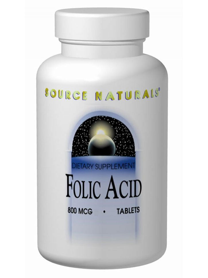 Source Naturals, Folic Acid 800mcg, 200 ct