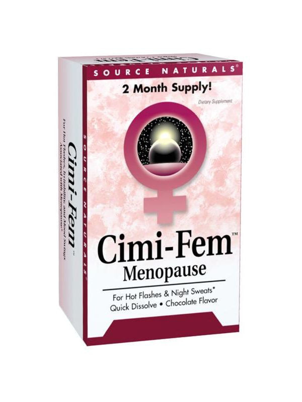Source Naturals, Cimi-Fem Black Cohosh, 40mg Subl Choc Eternal Woman, 60 ct