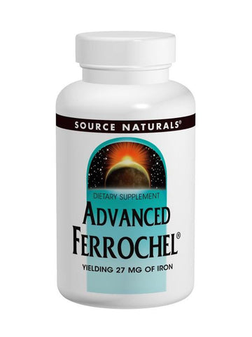 Source Naturals, Ferrochel Advanced, 27mg Iron, 180 ct
