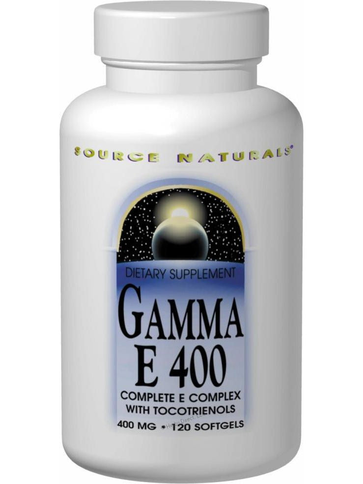 Source Naturals, Gamma E 400 Vitamin Complex w/Tocotrienols, 60 softgels