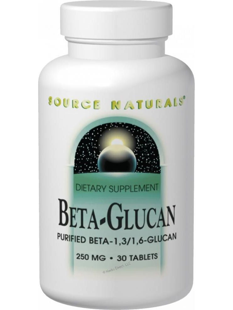 Source Naturals, Beta Glucan 1 3/1 6, 100mg, 60 ct