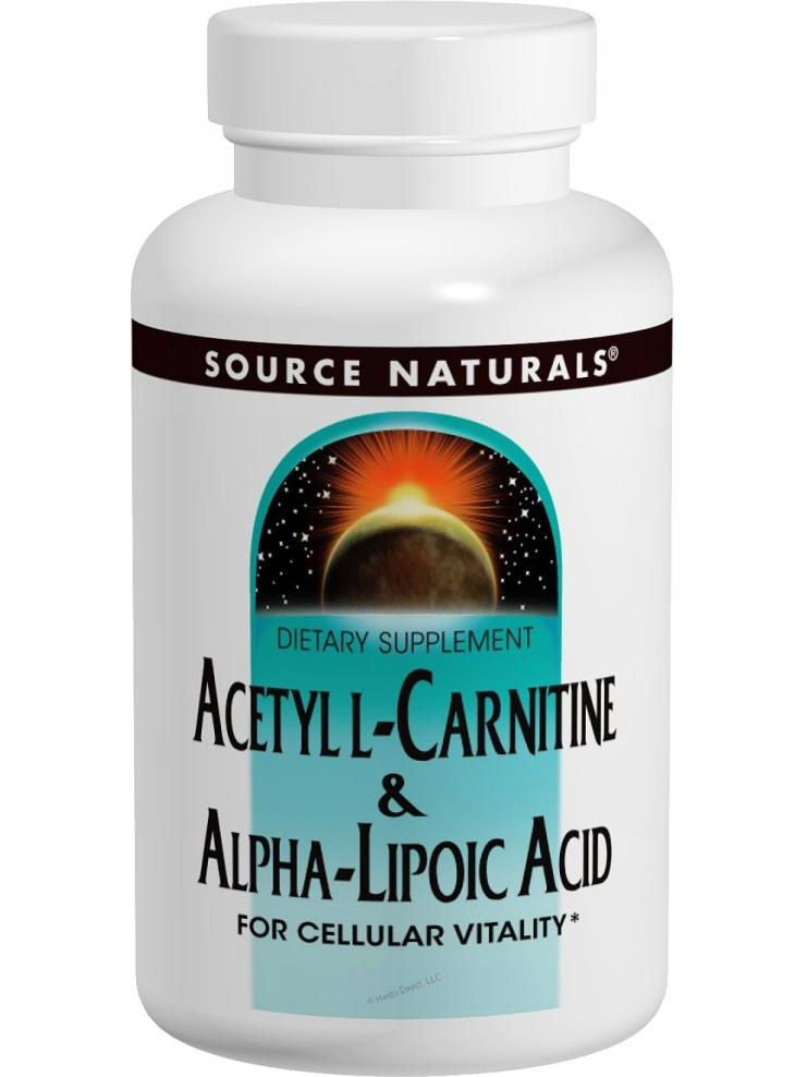Source Naturals, Acetyl L-Carnitine & Alpha Lipoic Acid, 500/150mg, 30 ct