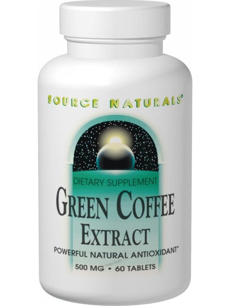 Source Naturals, Green Coffee Extract, 500mg, 60 ct