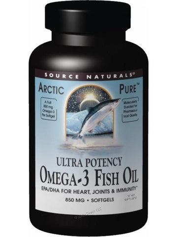 Source Naturals, ArcticPure Omega-3 Fish Oil Ultra Potency, 850mg, 120 softgels