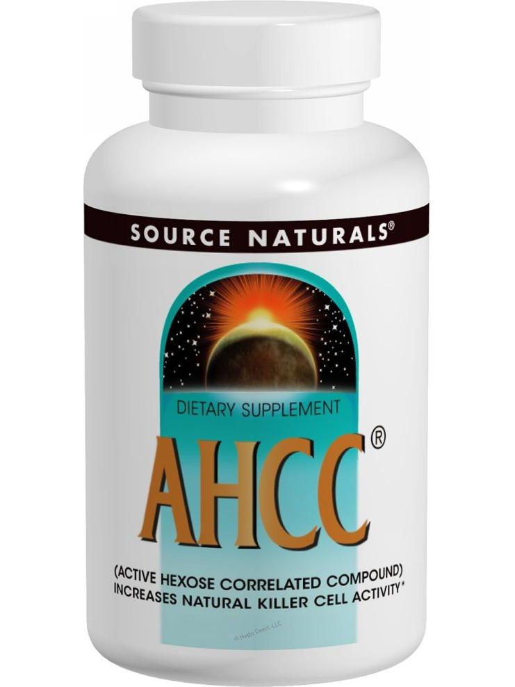 Source Naturals, AHCC Active Hexose Correlated Compound, 500mg Vegetarian, 60 ct