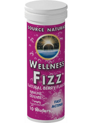 Source Naturals, Wellness Fizz Tangerine Flavor, 10 wafers