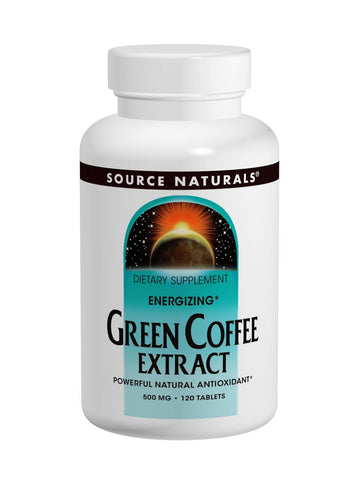 Source Naturals, Energizing Green Coffee Extract, 500mg, 120 ct