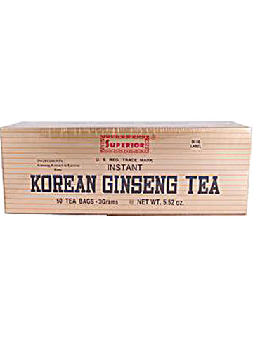 Korean Ginseng Tea 3 gm, 50 teabags, Superior Trading