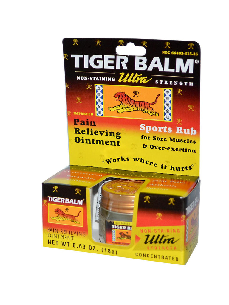 Tiger Balm Ultra White, 0.63 oz, Tiger Balm