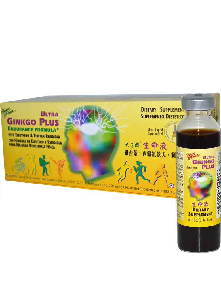 Ultra Ginkgo Plus Endurance Formula, 30 vials, Prince of Peace