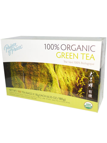 Organic Green Tea, 100 teabags, Prince of Peace