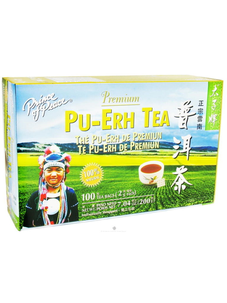 Premium Pu-Erh Tea, 100 teabags, Prince of Peace