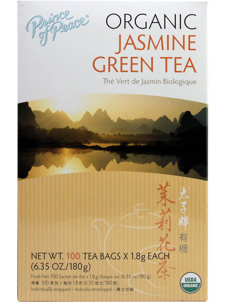 Organic Jasmine Green Tea, 100 teabags, Prince of Peace