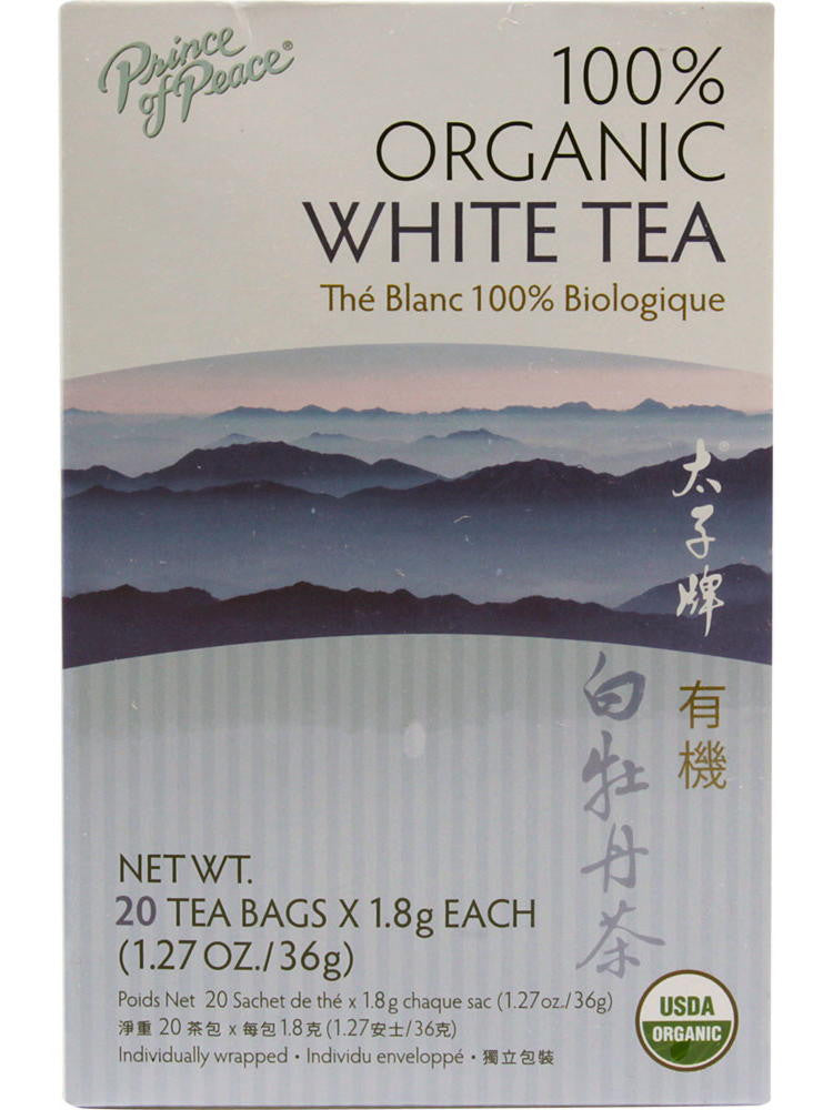 Organic White Tea, 20 teabags, Prince of Peace