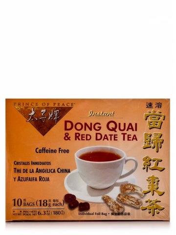 Dong Quai & Red Date Instant Tea, 10 teabags, Prince of Peace
