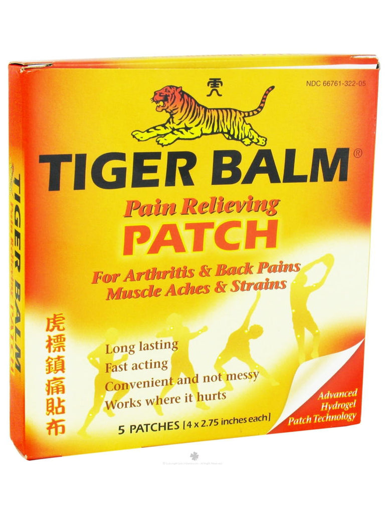 Tiger Balm 4x2.75 inch Regular, 5 ct, Tiger Balm