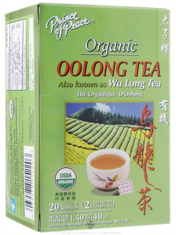 Organic Oolong Tea, 20 teabags, Prince of Peace